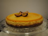 White chocolate and passion fruit cheesecake